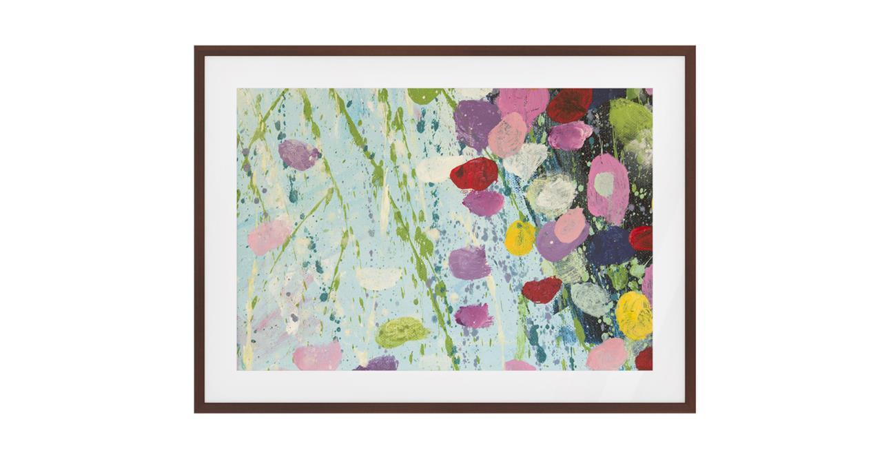 The Perennial Print Dark Brown Wood Frame Medium