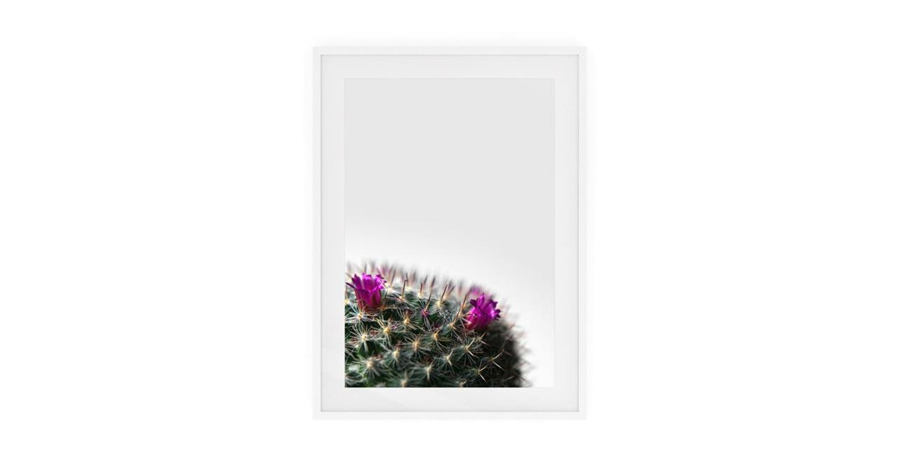 The Prickle Print White Wood Frame Small Left