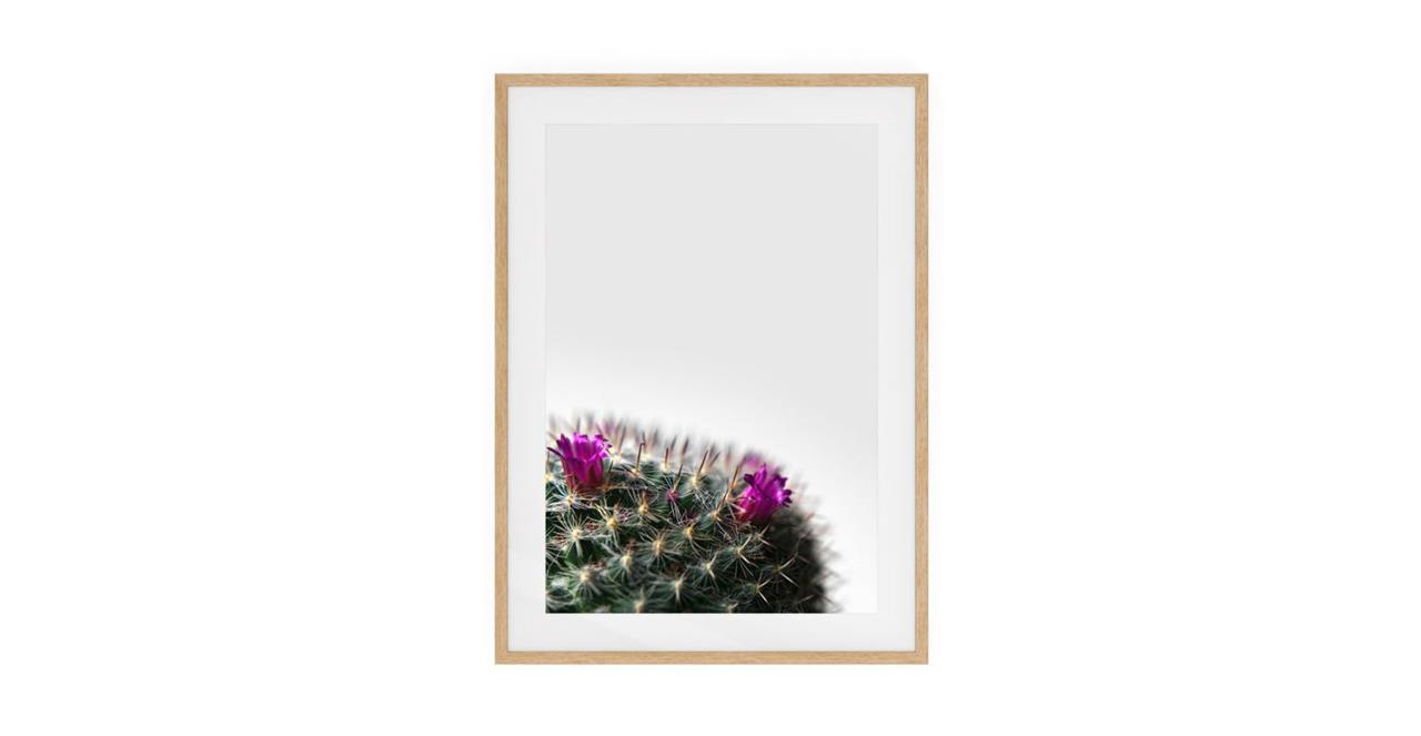 The Prickle Print Natural Wood Frame Small Left