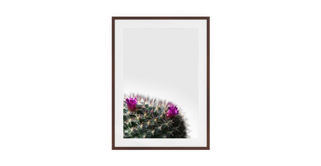 The Prickle Print Dark Brown Wood Frame Medium Left