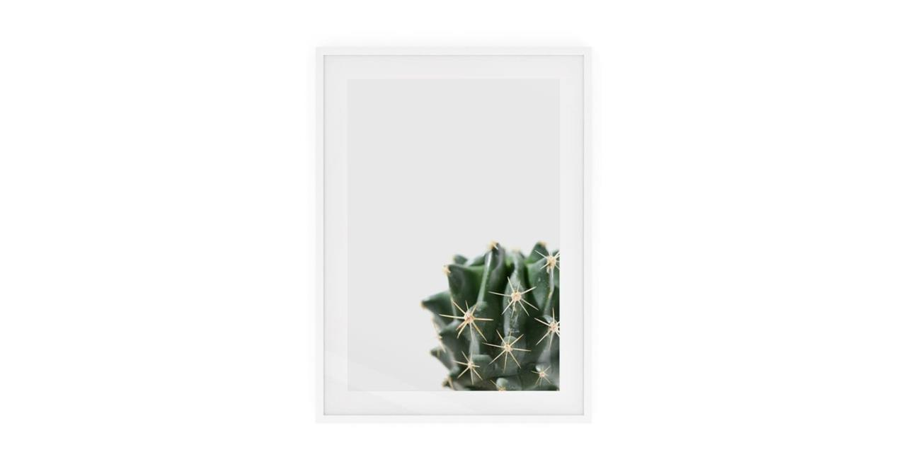 The Prickle Print White Wood Frame Medium Right