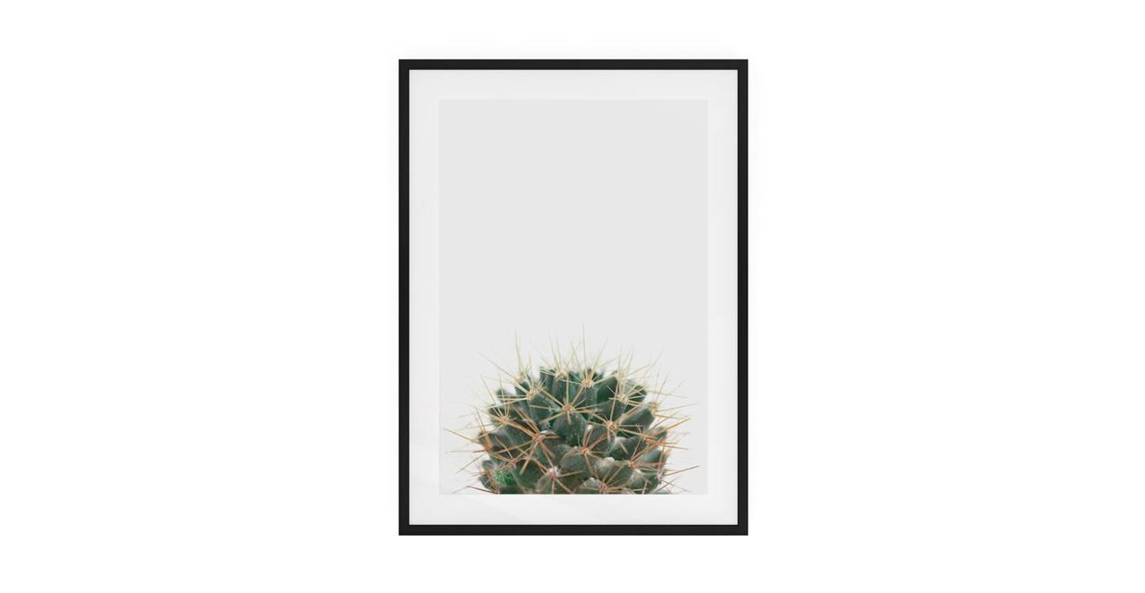 The Prickle Print Black Wood Frame Small Centre