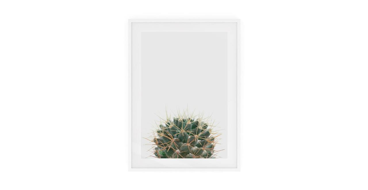 The Prickle Print White Wood Frame Small Centre