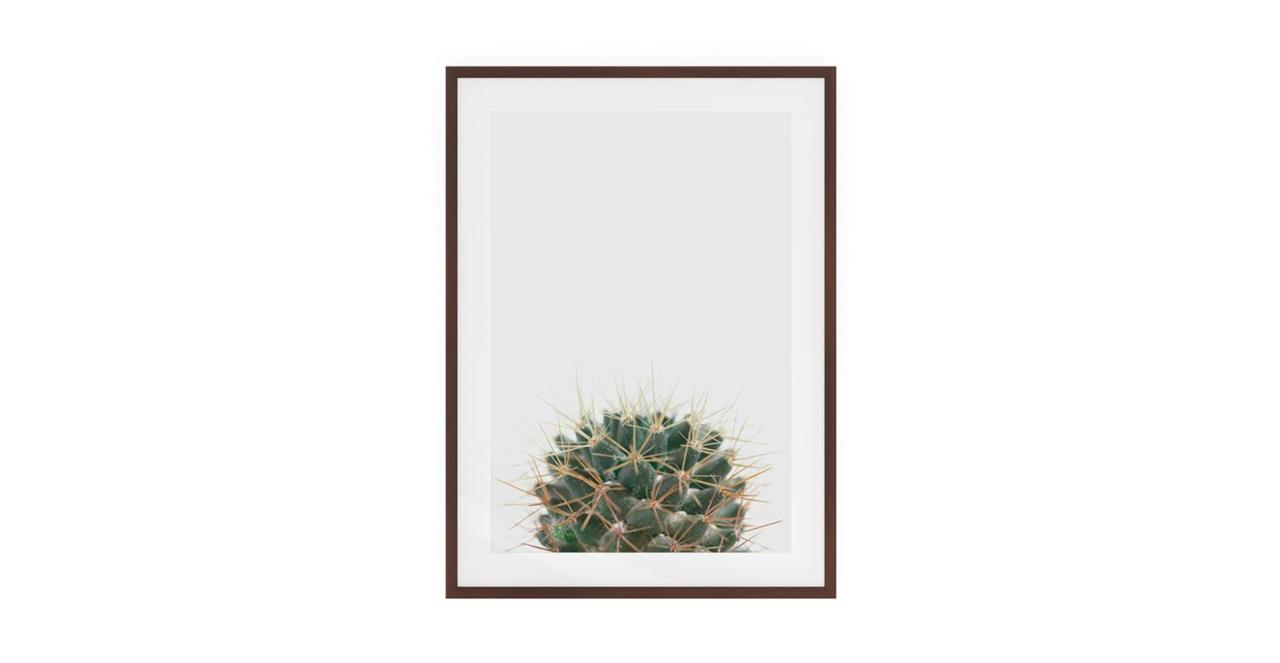 The Prickle Print Dark Brown Wood Frame Small Centre
