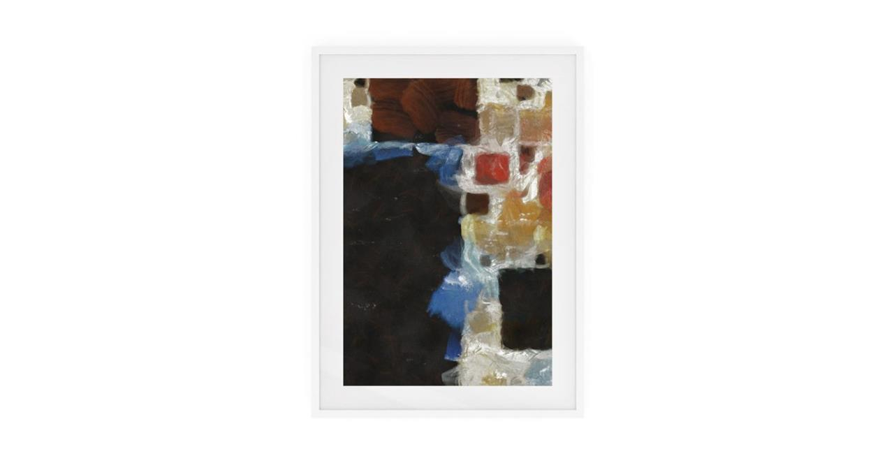 The Mosaic Print White Wood Frame Small One
