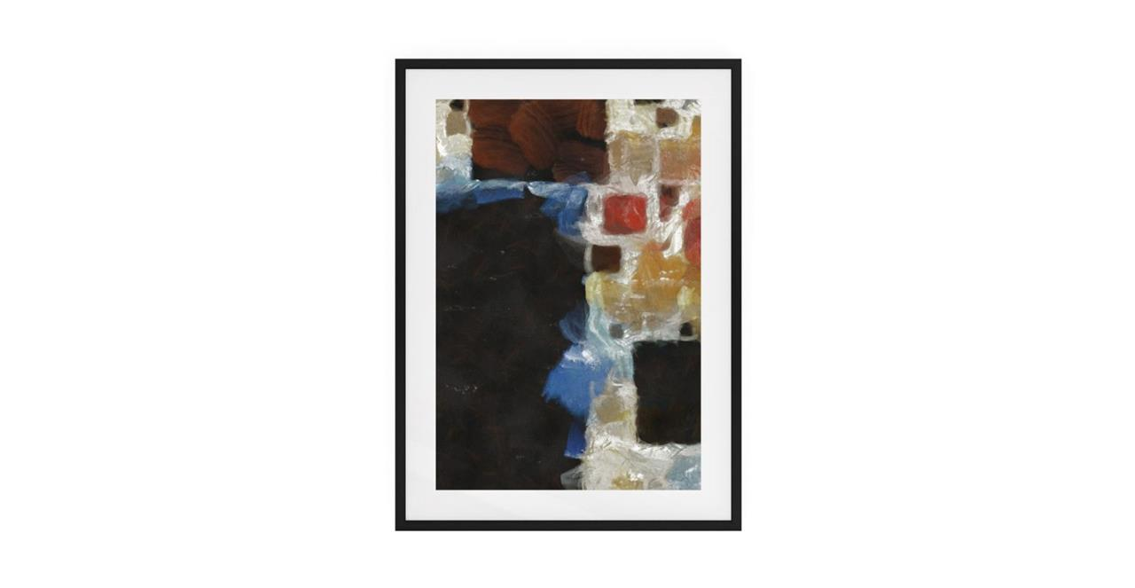 The Mosaic Print Black Wood Frame Small One