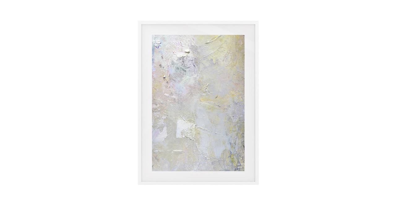 The Fawn Print White Wood Frame Small
