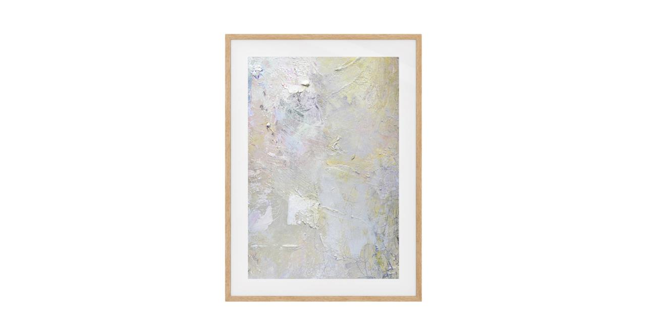The Fawn Print Natural Wood Frame Small