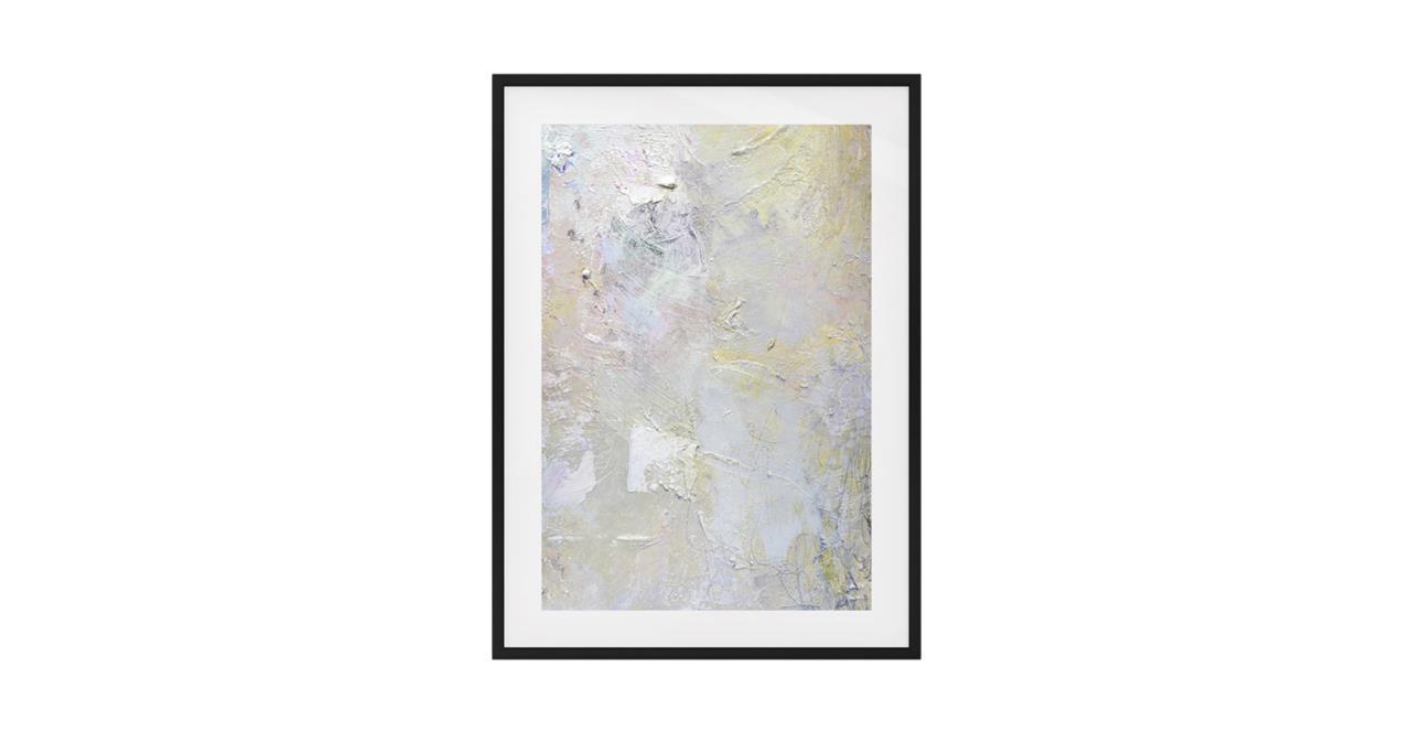 The Fawn Print Black Wood Frame Medium
