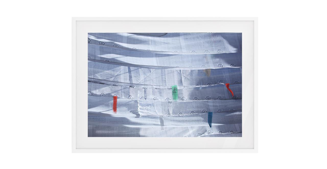 The Flags Print White Wood Frame Small