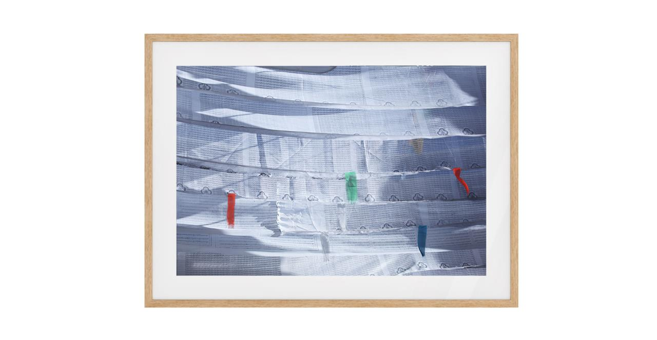 The Flags Print Natural Wood Frame Small