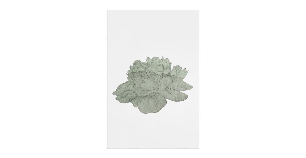 The Flowering Print Canvas Small Green