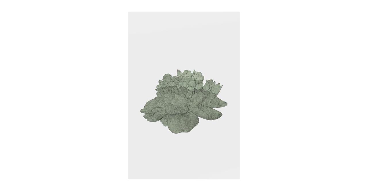 The Flowering Print Metal Print Medium Green