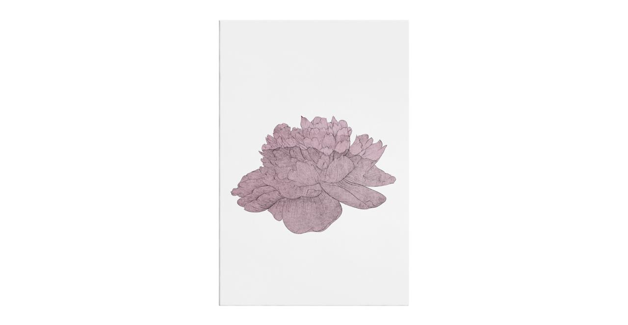 The Flowering Print Canvas Small Dusty Pink
