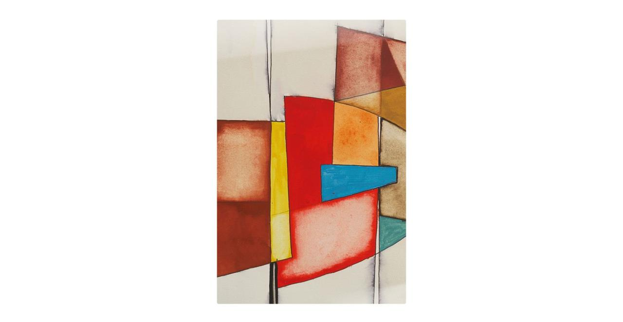 The Fractures Print Metal Print Small Square