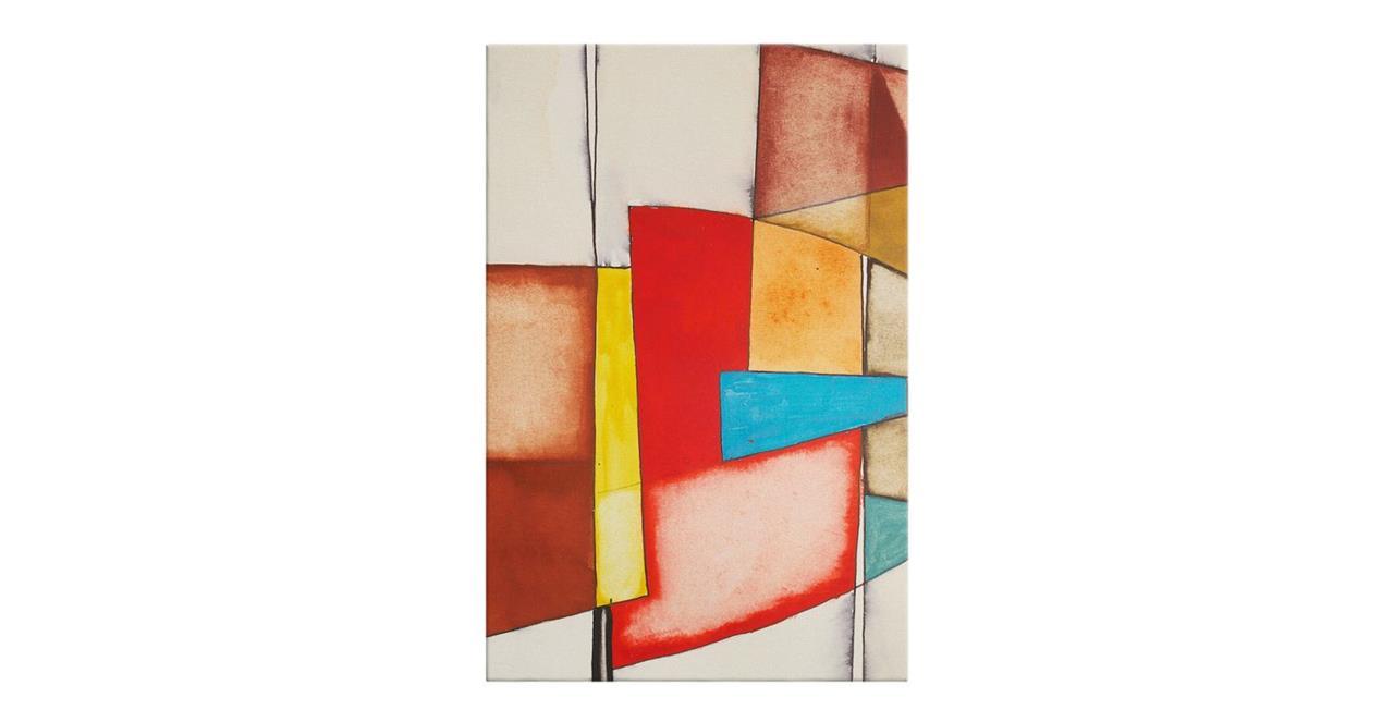 The Fractures Print Canvas Medium Square