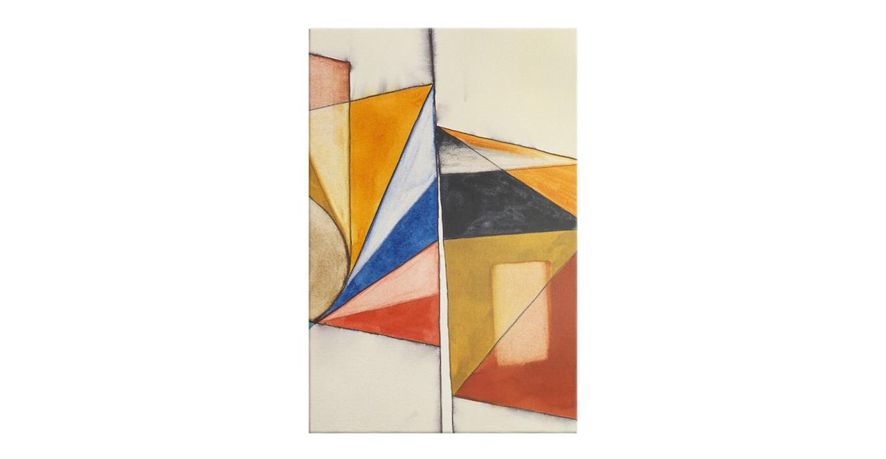 The Fractures Print Canvas Medium Triangle