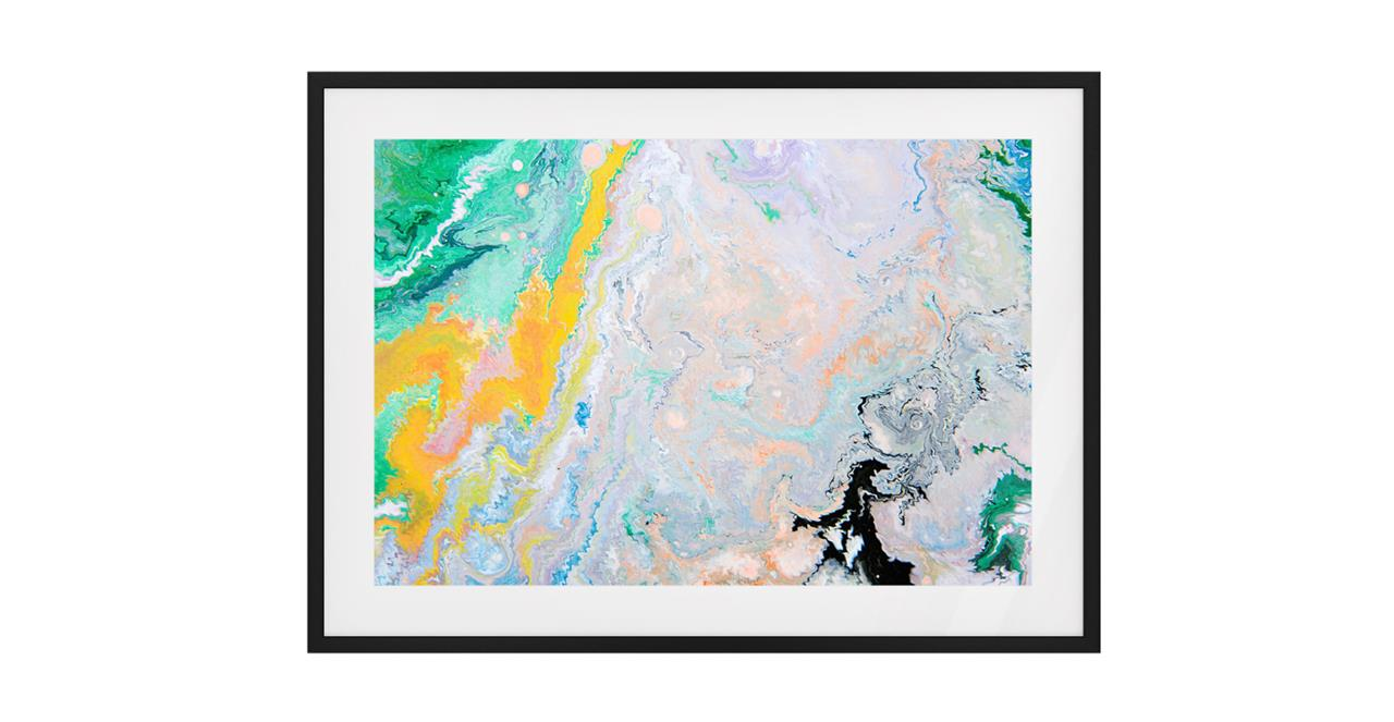 The Fragments Print Black Wood Frame Small