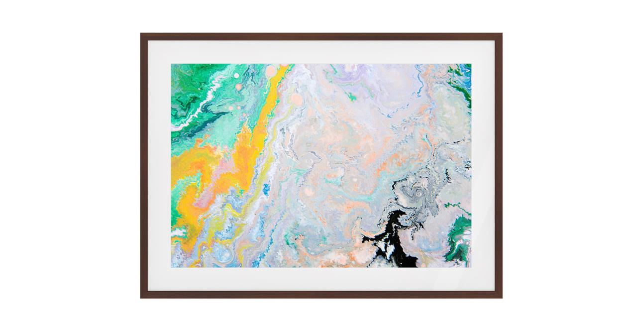 The Fragments Print Dark Brown Wood Frame Small