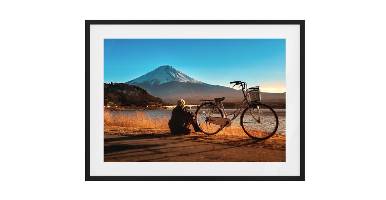 The Fuji Print Black Wood Frame Small