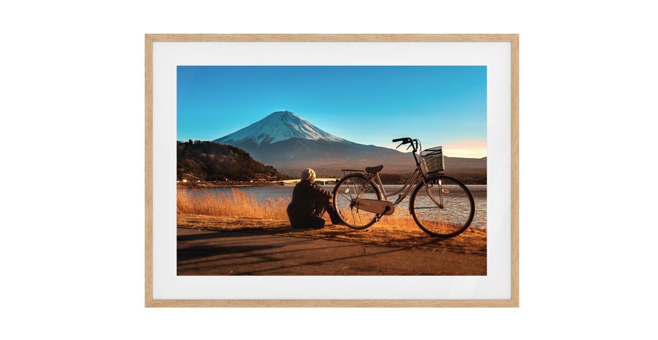 The Fuji Print Natural Wood Frame Medium