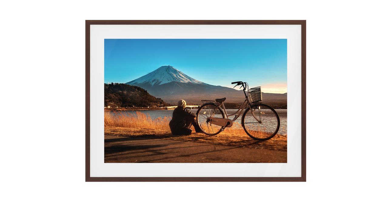 The Fuji Print Dark Brown Wood Frame Medium