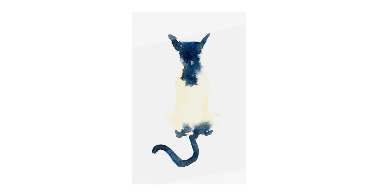 The Galaxy Cat Print Metal Print Medium
