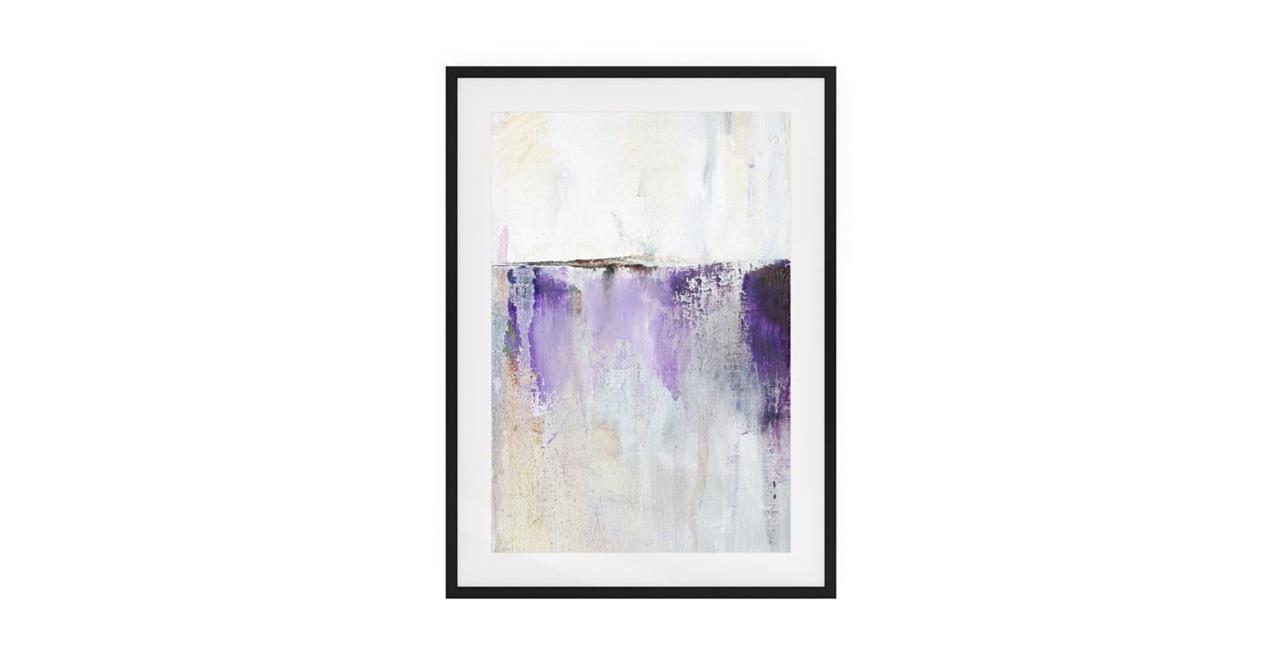 The Purple Rain Print Black Wood Frame Medium Medium