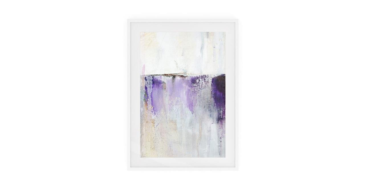 The Purple Rain Print White Wood Frame Medium Medium