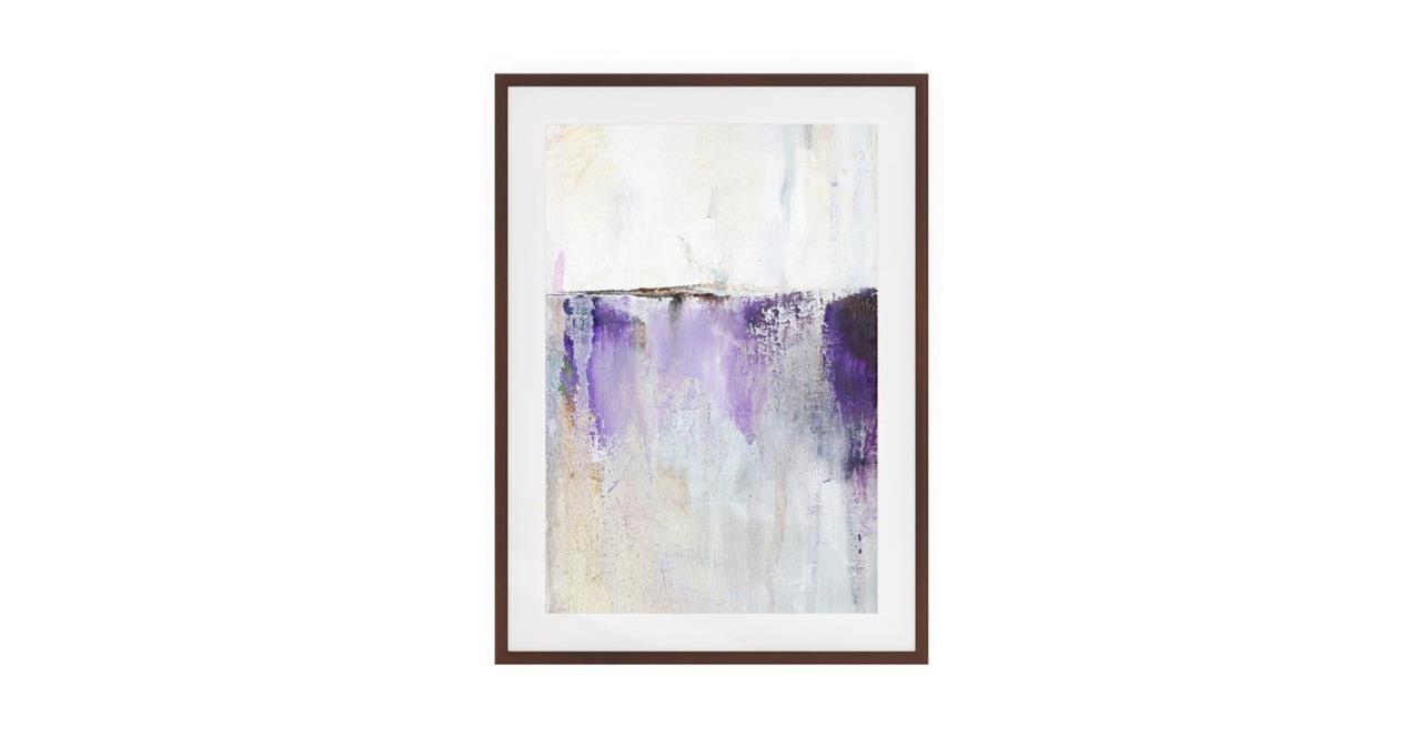 The Purple Rain Print Dark Brown Wood Frame Medium Medium
