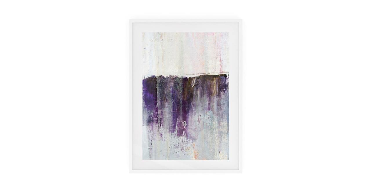 The Purple Rain Print White Wood Frame Small Heavy