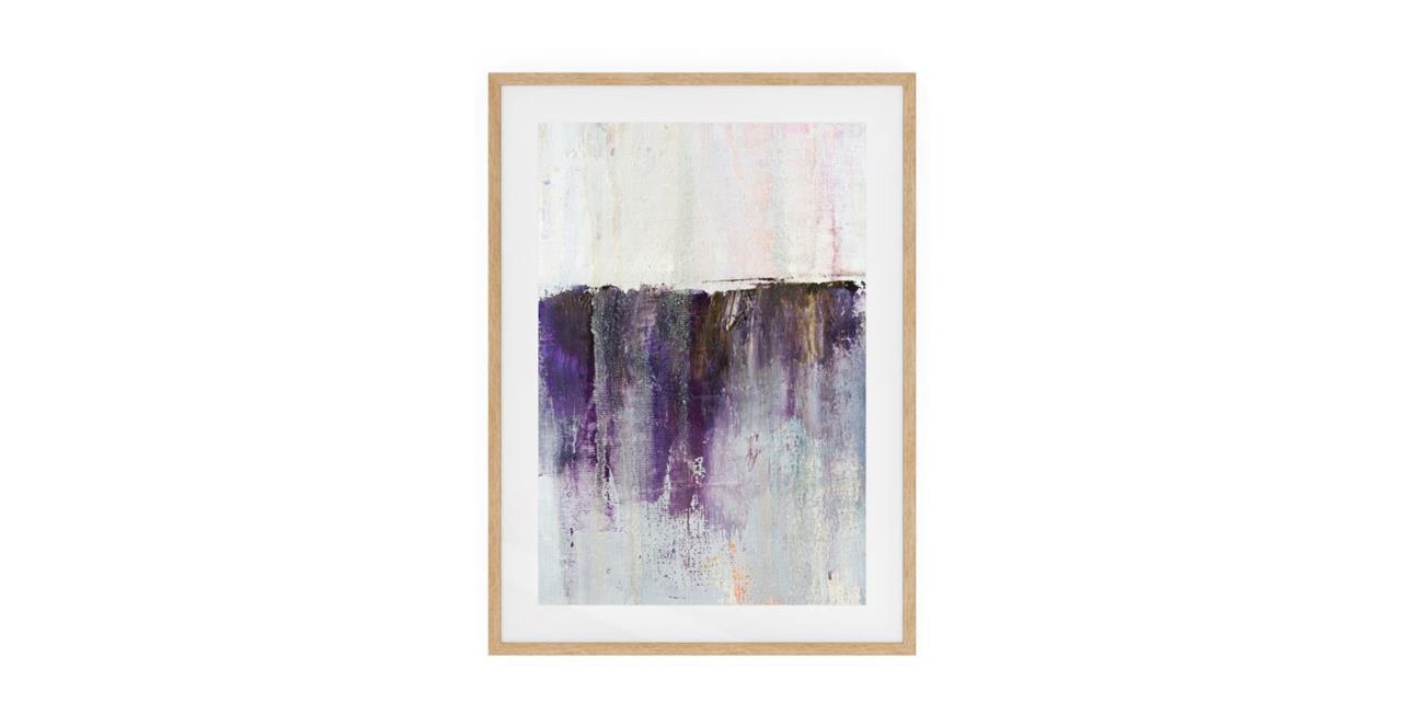 The Purple Rain Print Natural Wood Frame Small Heavy