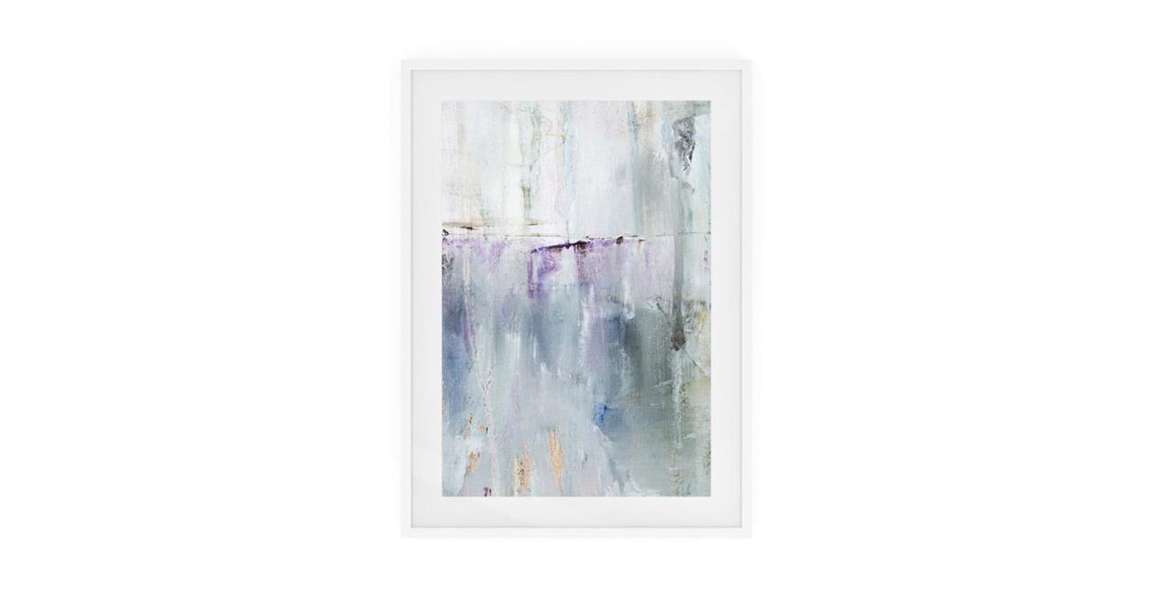 The Purple Rain Print White Wood Frame Small Light
