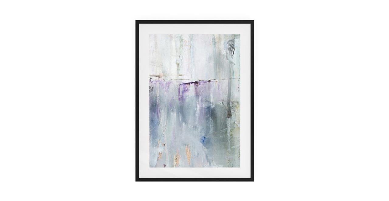 The Purple Rain Print Black Wood Frame Medium Light