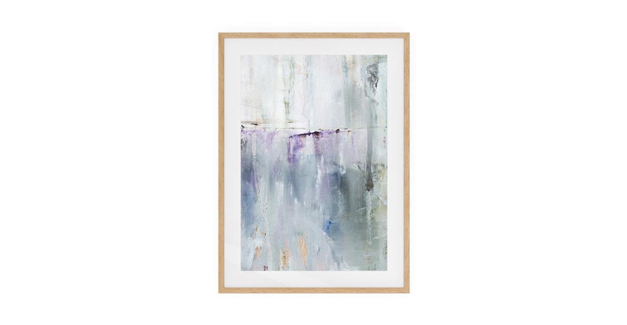 The Purple Rain Print Natural Wood Frame Medium Light
