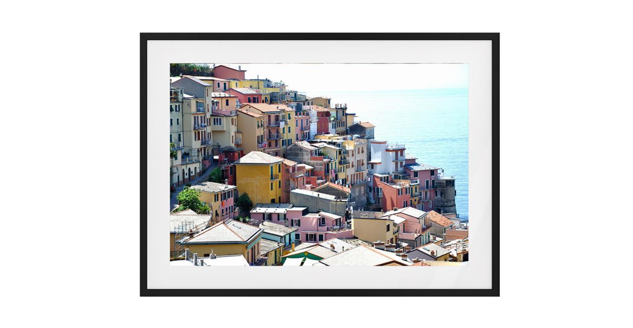 The Riviera Print Black Wood Frame Small