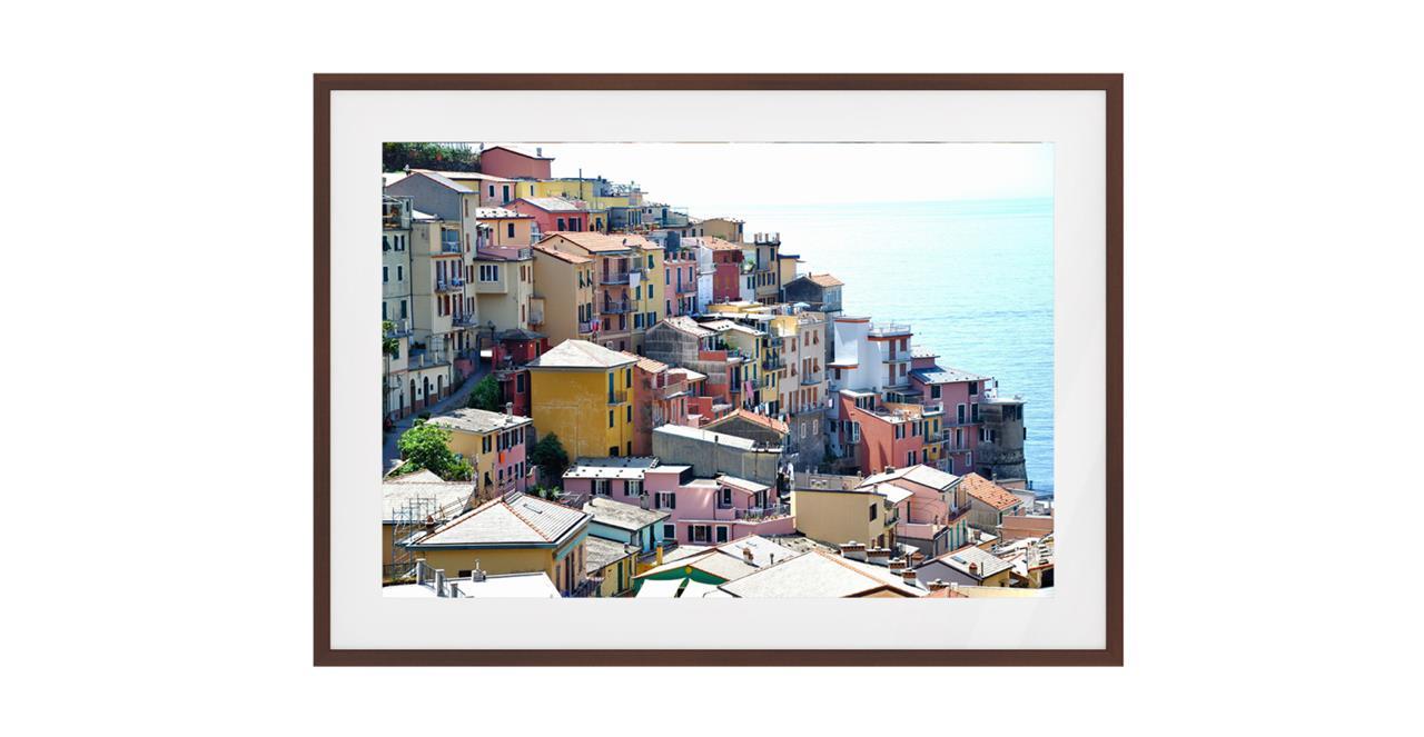 The Riviera Print Dark Brown Wood Frame Medium