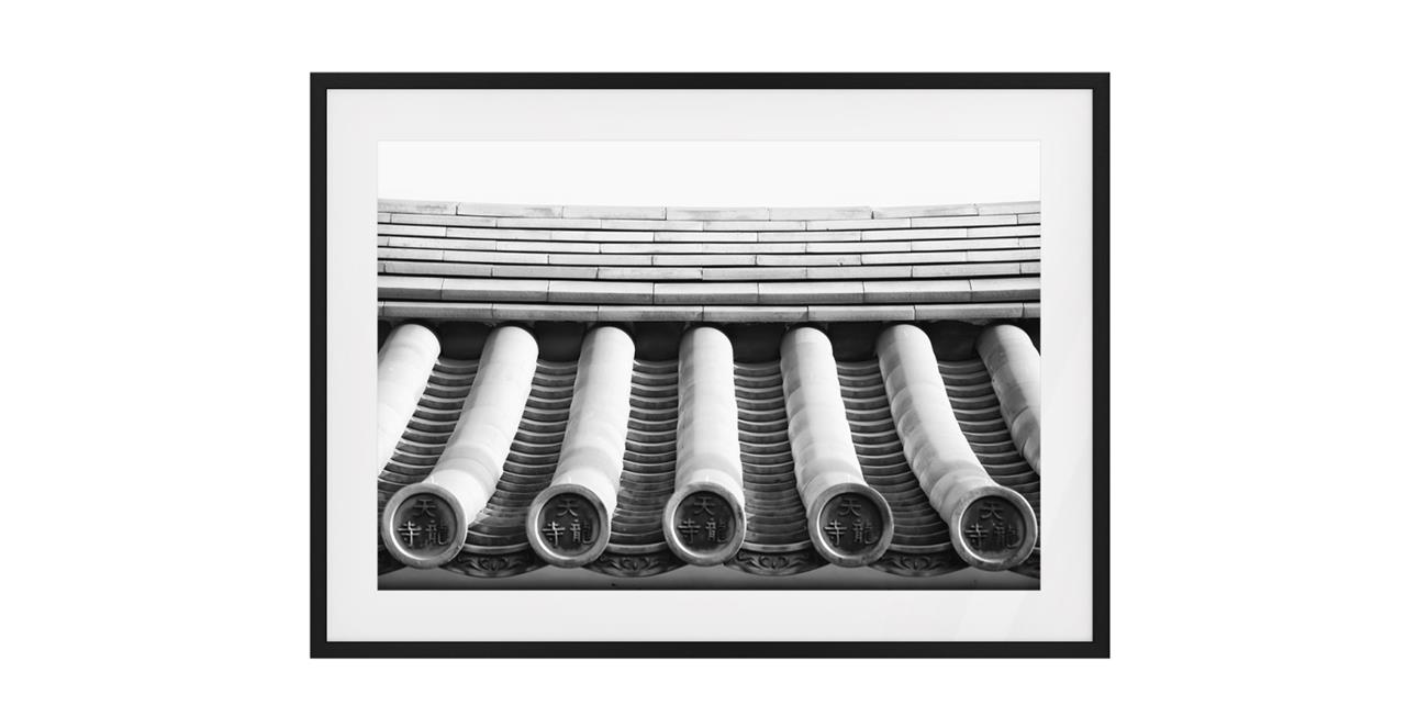 The Roof Print Black Wood Frame Small