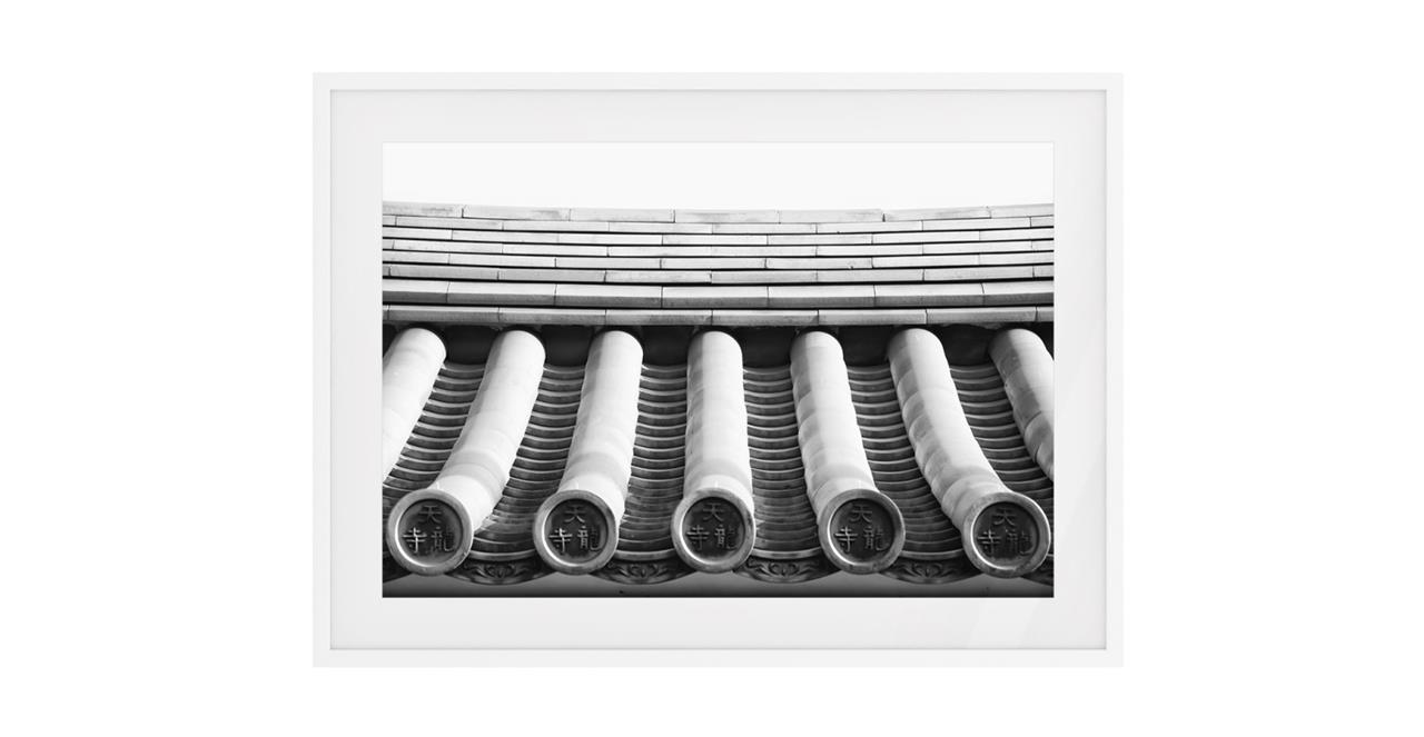 The Roof Print White Wood Frame Small