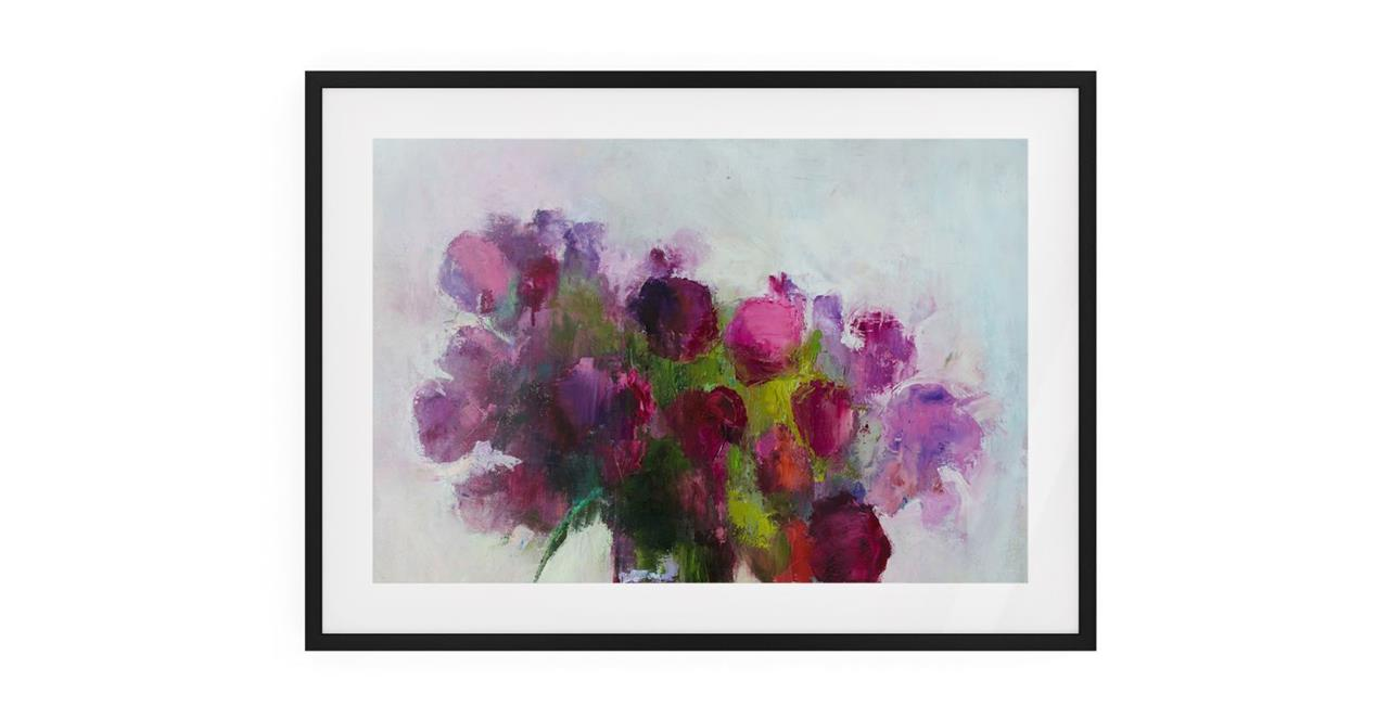 The Roses Print Black Wood Frame Small