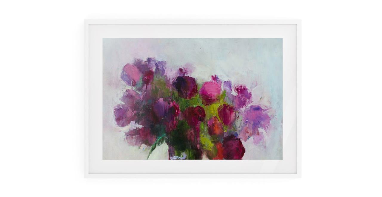 The Roses Print White Wood Frame Small