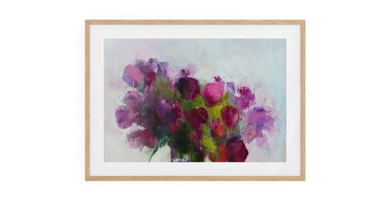 The Roses Print Natural Wood Frame Medium