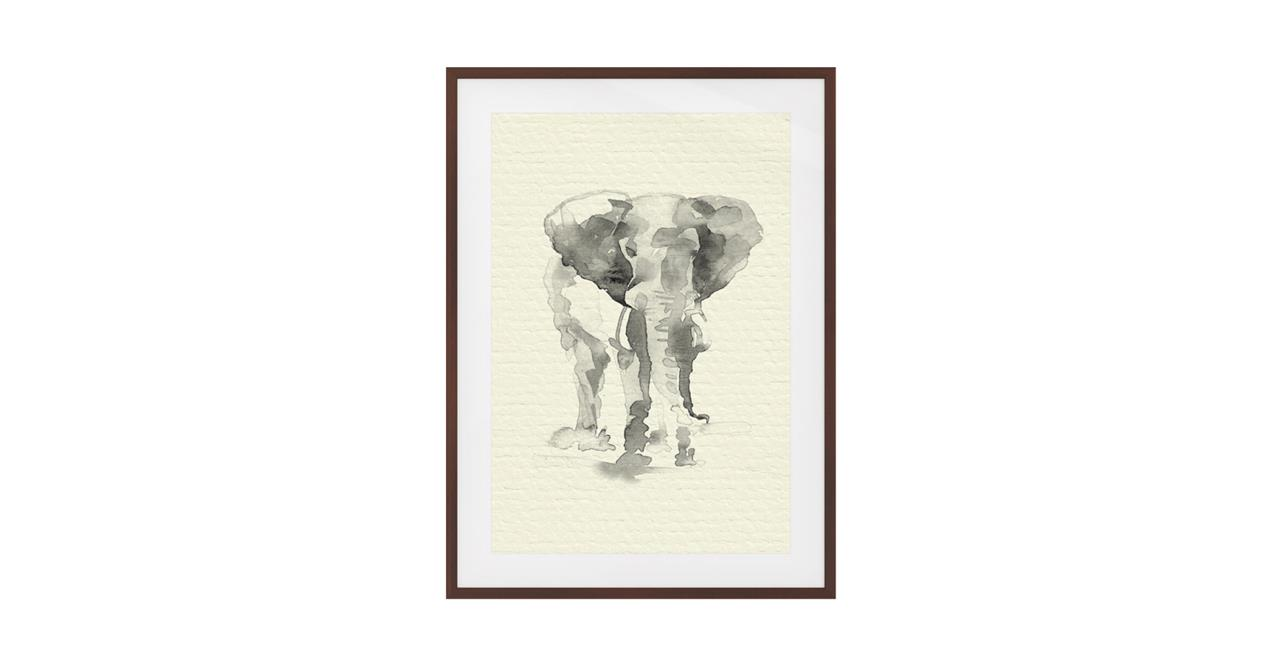 The Safari Print Dark Brown Wood Frame Small Elephant