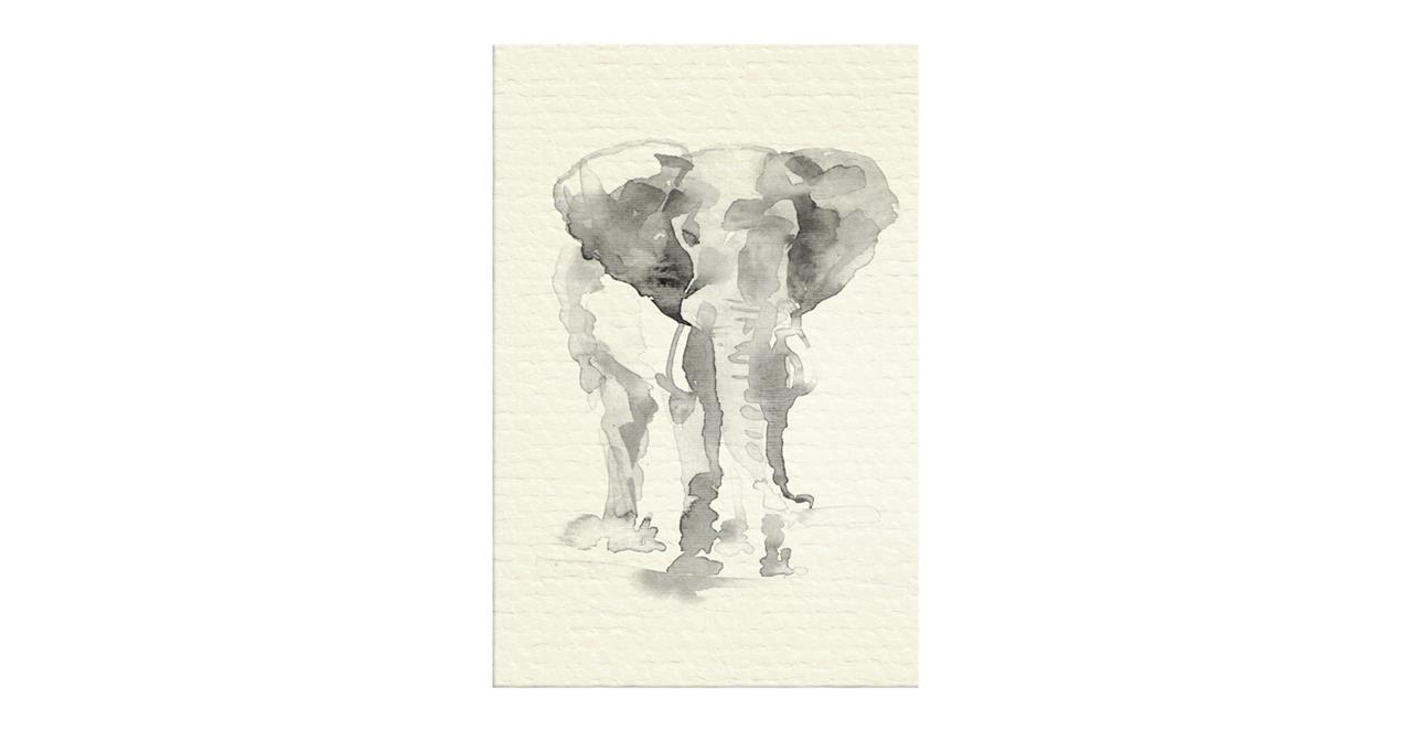 The Safari Print Canvas Small Elephant