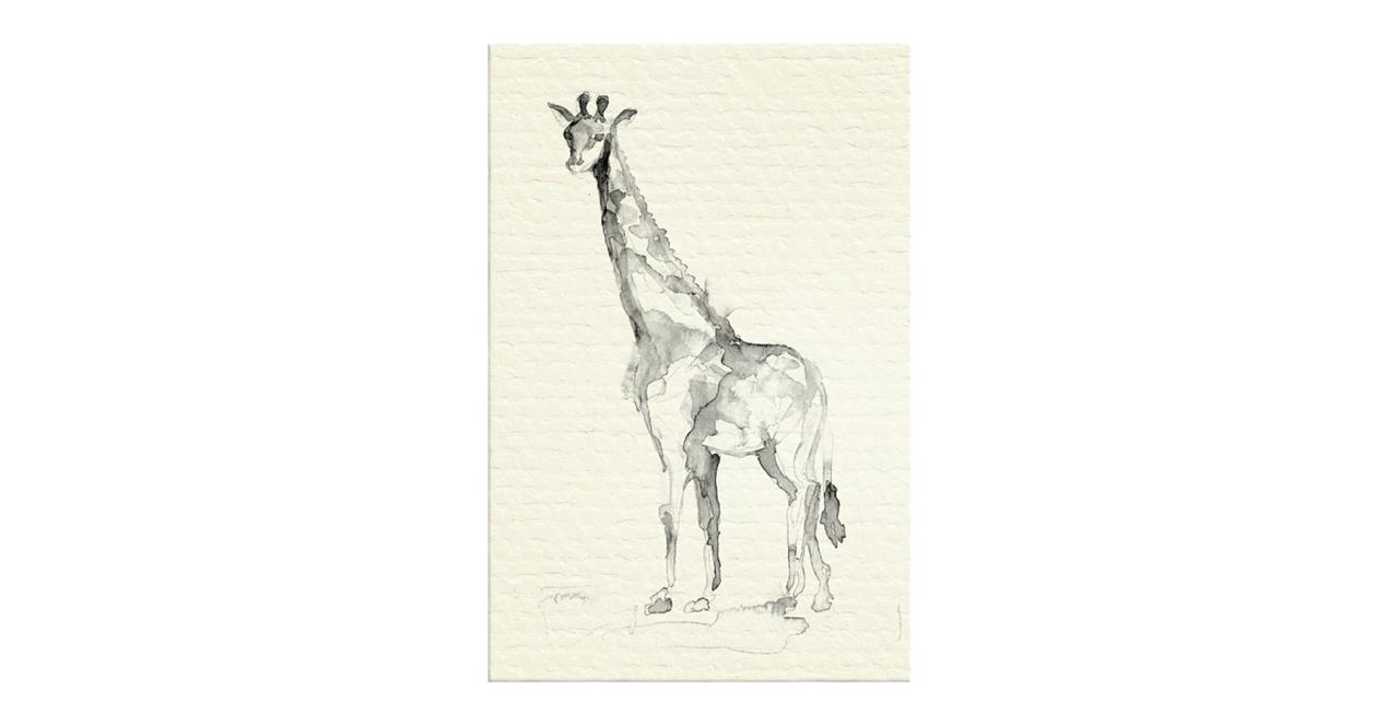 The Safari Print Canvas Medium Giraffe