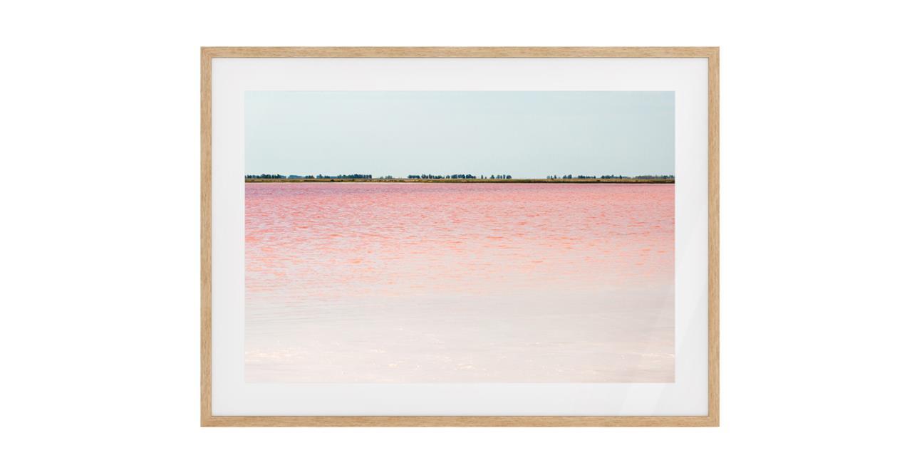 The Salt Print Natural Wood Frame Medium