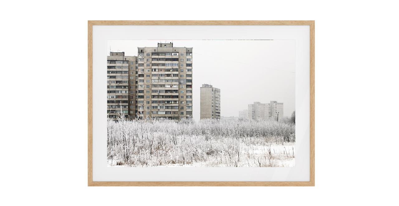 The Season Print Natural Wood Frame Medium