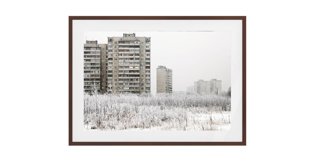 The Season Print Dark Brown Wood Frame Medium