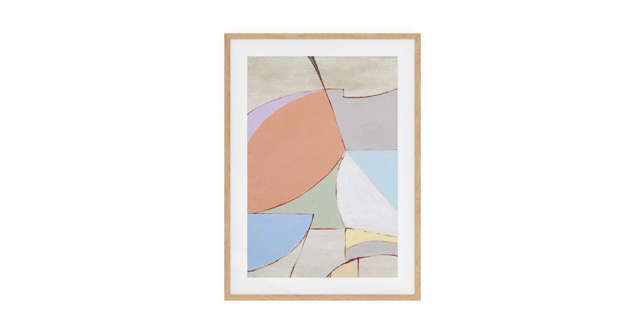 The Sorbet Print Natural Wood Frame Small Rose