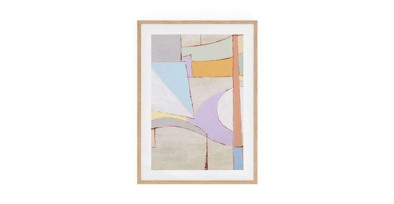 The Sorbet Print Natural Wood Frame Medium Lavender